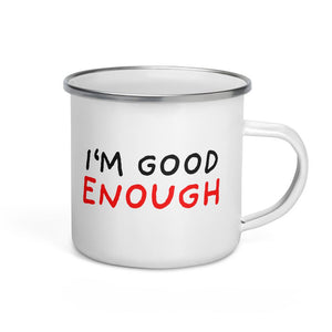 Good Enough | Enamel Mug-enamel mugs-Eggenland