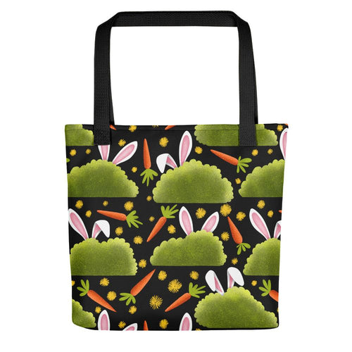 Rabbits and Carrots | Tote Bag-tote bags-Black-Eggenland