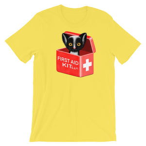 First Aid Kitten | Short-Sleeve Unisex T-Shirt-t-shirts-Yellow-S-Eggenland