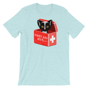 First Aid Kitten | Short-Sleeve Unisex T-Shirt-t-shirts-Heather Prism Ice Blue-S-Eggenland