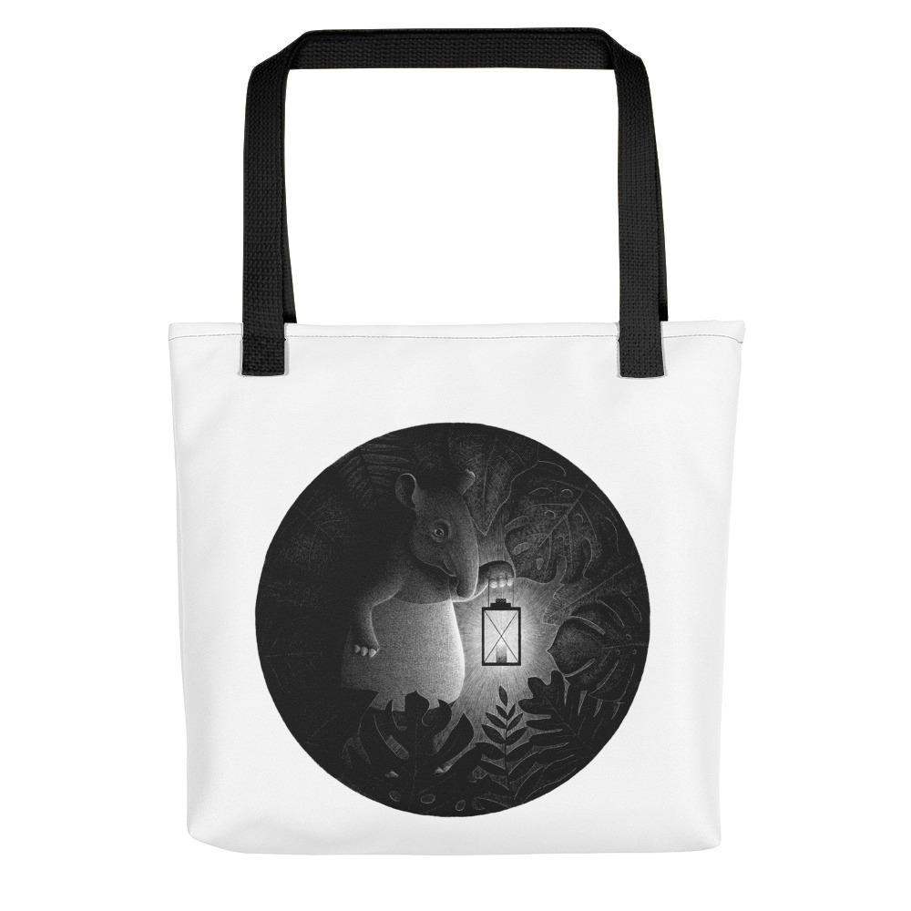 Tapirs Are Night Creatures | Tote Bag-tote bags-Black-Eggenland