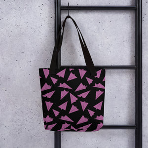 Paper Planes Pattern | Black and Pink | Tote Bag-tote bags-Eggenland