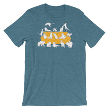 Load image into Gallery viewer, Cats Party | Short-Sleeve Unisex T-Shirt-t-shirts-Heather Deep Teal-S-Eggenland