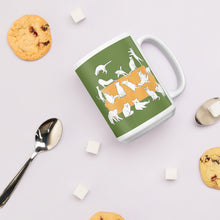 Load image into Gallery viewer, Cats Party | Green | Mug-mugs-Eggenland