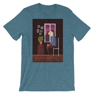 Charlie Waiting For Love | Short-Sleeve Unisex T-Shirt-t-shirts-Heather Deep Teal-S-Eggenland