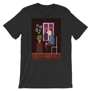 Charlie Waiting For Love | Short-Sleeve Unisex T-Shirt-t-shirts-Dark Grey Heather-S-Eggenland