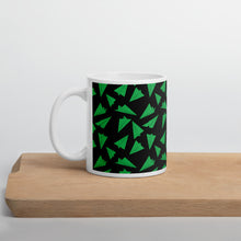 Load image into Gallery viewer, Paper Planes Pattern | Dark Green | Mug-mugs-11oz-Eggenland