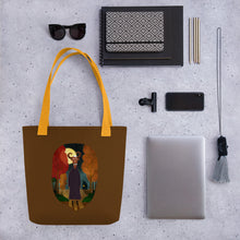 Load image into Gallery viewer, Deer Creature at Night | Brown | Tote Bag-tote bags-Eggenland