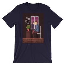 Load image into Gallery viewer, Charlie Waiting For Love | Short-Sleeve Unisex T-Shirt-t-shirts-Navy-S-Eggenland