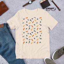 Load image into Gallery viewer, Funky Cats Pattern | Short-Sleeve Unisex T-Shirt-t-shirts-Eggenland