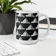 Load image into Gallery viewer, Newspaper Hats Pattern | Black and White | Mug-mugs-Eggenland