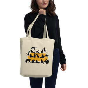 Black Cats Party | Eco Tote Bag-tote bags-Eggenland