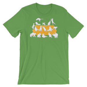 Cats Party | Short-Sleeve Unisex T-Shirt-t-shirts-Leaf-S-Eggenland