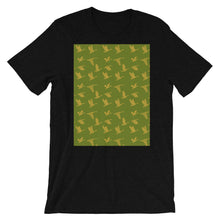 Load image into Gallery viewer, Flying Birds Pattern | Green | Short-Sleeve Unisex T-Shirt-t-shirts-Black Heather-S-Eggenland