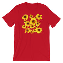 Load image into Gallery viewer, Blooming Flowers | Short-Sleeve Unisex T-Shirt-t-shirts-Red-S-Eggenland