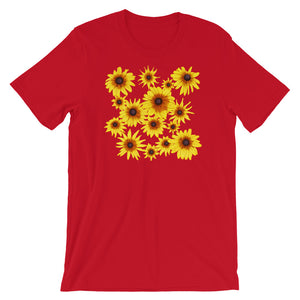 Blooming Flowers | Short-Sleeve Unisex T-Shirt-t-shirts-Red-S-Eggenland