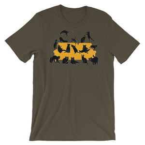 Black Cats Party | Short-Sleeve Unisex T-Shirt-t-shirts-Army-S-Eggenland