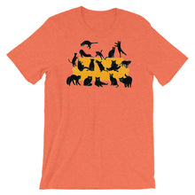 Load image into Gallery viewer, Black Cats Party | Short-Sleeve Unisex T-Shirt-t-shirts-Heather Orange-S-Eggenland