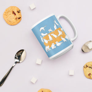 Cats Party | Blue | Mug-mugs-Eggenland