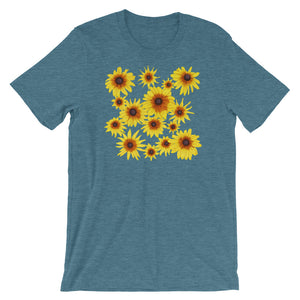 Blooming Flowers | Short-Sleeve Unisex T-Shirt-t-shirts-Heather Deep Teal-S-Eggenland