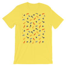 Load image into Gallery viewer, Funky Cats Pattern | Short-Sleeve Unisex T-Shirt-t-shirts-Yellow-S-Eggenland