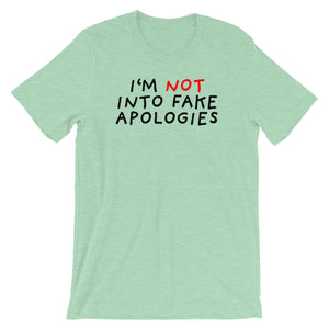 Fake Apologies | Short-Sleeve Unisex T-Shirt-t-shirts-Heather Prism Mint-S-Eggenland
