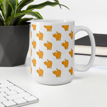 Load image into Gallery viewer, Yellow Cat Pattern | White | Mug-mugs-Eggenland