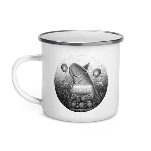 Dugongs Can Live Up To 70 Years | Enamel Mug-enamel mugs-Eggenland