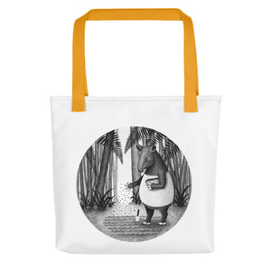Tapirs Are Gardeners of Forest | Tote Bag-tote bags-Yellow-Eggenland
