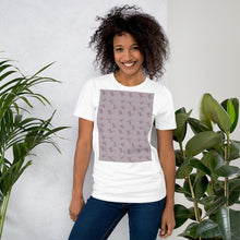 Load image into Gallery viewer, Flying Birds Pattern | Violet | Short-Sleeve Unisex T-Shirt-t-shirts-Eggenland