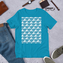 Load image into Gallery viewer, Paper Hats Pattern | Blue | Short-Sleeve Unisex T-Shirt-t-shirts-Eggenland