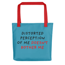 Load image into Gallery viewer, Distorted Perception | Blue | Tote Bag-tote bags-Red-Eggenland