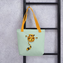 Load image into Gallery viewer, Fat Cat | Light Green | Tote Bag-tote bags-Eggenland