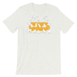 Cats Party | Short-Sleeve Unisex T-Shirt-t-shirts-Ash-S-Eggenland