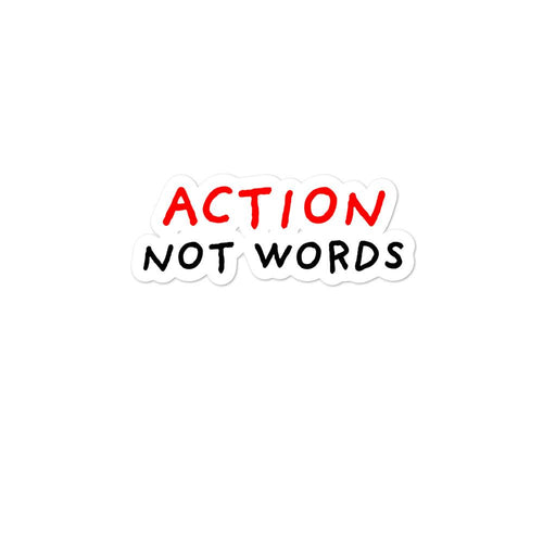 Action not Words | Bubble-free stickers-stickers-Eggenland