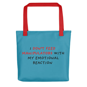 Don't Feed Manipulators | Blue | Tote Bag-tote bags-Red-Eggenland