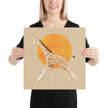 Load image into Gallery viewer, Giraffe and Sun | Cream | Poster-posters-16×16-Eggenland