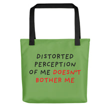 Load image into Gallery viewer, Distorted Perception | Green | Tote Bag-tote bags-Black-Eggenland