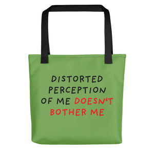 Distorted Perception | Green | Tote Bag-tote bags-Black-Eggenland