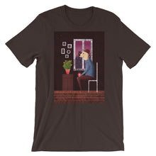Load image into Gallery viewer, Charlie Waiting For Love | Short-Sleeve Unisex T-Shirt-t-shirts-Brown-S-Eggenland
