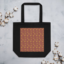Load image into Gallery viewer, Flying Birds Pattern | Red | Eco Tote Bag-tote bags-Black-Eggenland