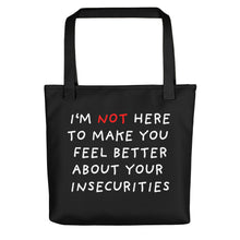 Load image into Gallery viewer, Insecurities | Black | Tote Bag-tote bags-Black-Eggenland