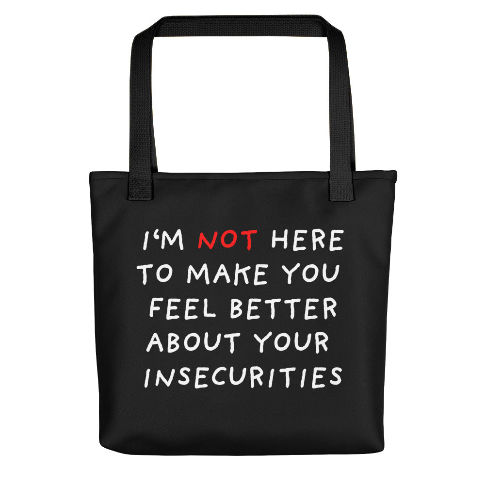 Insecurities | Black | Tote Bag-tote bags-Black-Eggenland