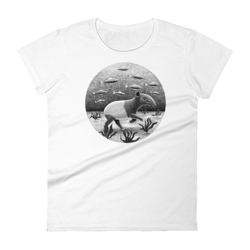 Tapirs Can Walk Underwater | Women's Short-Sleeve T-shirt-t-shirts-White-S-Eggenland