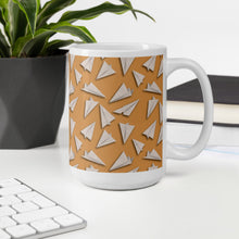 Load image into Gallery viewer, Paper Planes Pattern | Beige | Mug-mugs-Eggenland