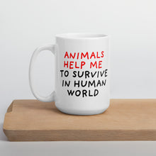 Load image into Gallery viewer, Animals Help Me | Mug-mugs-15oz-Eggenland