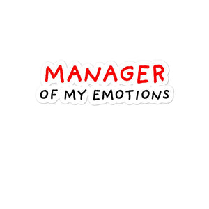 Manager of My Emotions | Bubble-free stickers-stickers-Eggenland