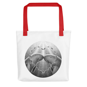 Dugongs Have One Partner | Tote Bag-tote bags-Red-Eggenland
