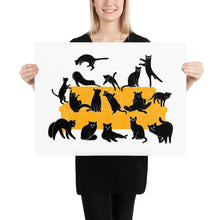 Load image into Gallery viewer, Black Cats Party | Illustration | Poster-posters-18×24-Eggenland