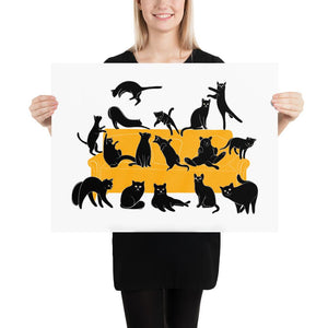 Black Cats Party | Illustration | Poster-posters-18×24-Eggenland